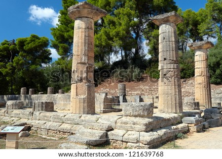 Ruins on ancient, Greece. - stock photo