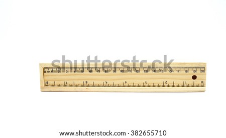 ruler - stock photo