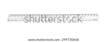 ruler with white background - stock photo