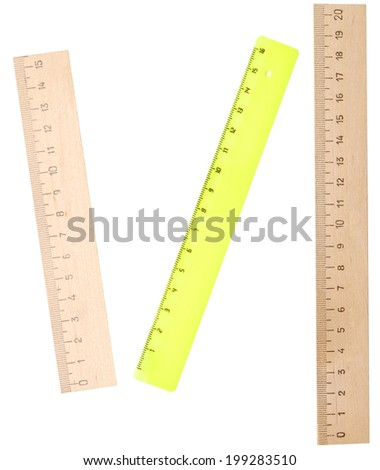 rulers isolated on white