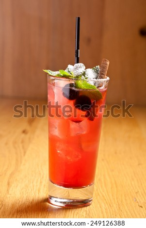 Rum punch cocktail - stock photo