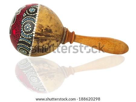 rumba shaker on the white background - stock photo