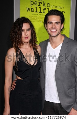 "Rumer Willis, Jayson Blair at ""The Perks of Being a Wallflower"" Los Angeles Premiere, Arclight, Hollywood, CA 09-10-12"