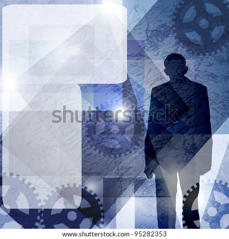 runge, business man. space for text - stock photo