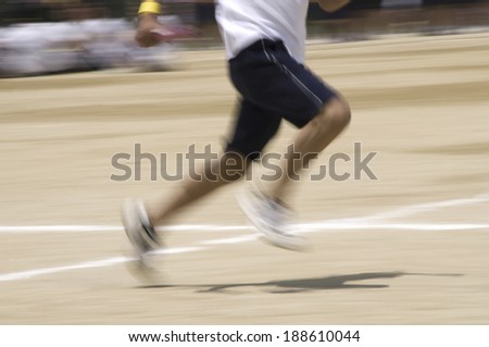 Runner in motion