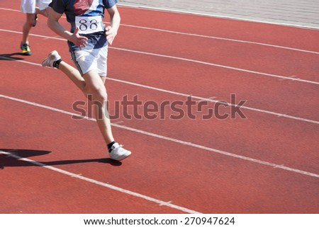 runner in motion blur