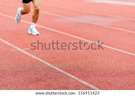 Runner on racetrack