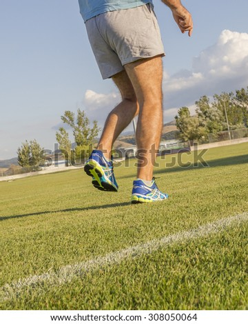 runner shoes, meadow, grass, for background