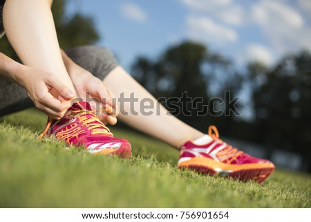 Runner Training woman and healthy lifestyle