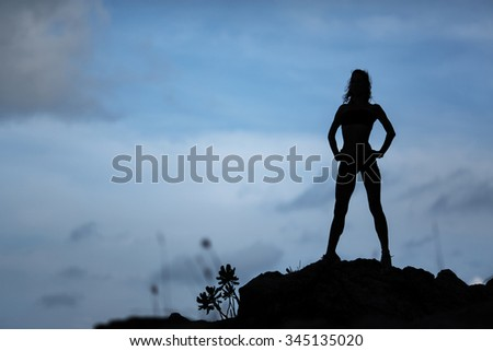 Runner - woman running training.Female fitness concept - stock photo