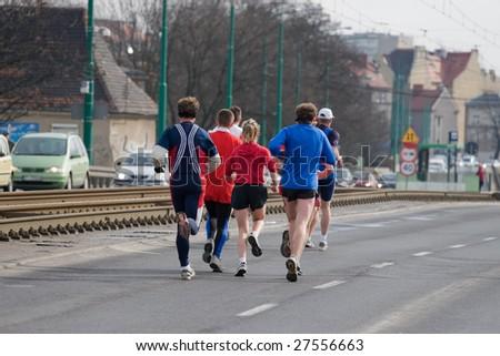 runners - stock photo