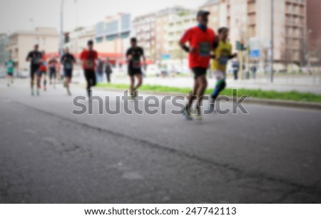 Runners. Intentionally blurred post production.
