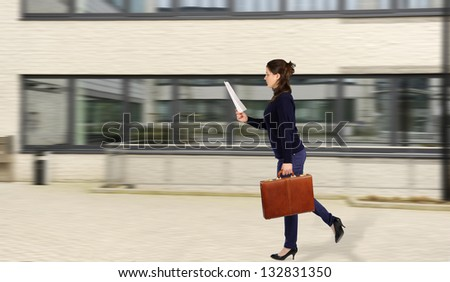 running business woman