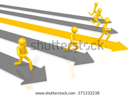 Running 3D cartoon characters - great for topics like effort, achievement, leadership, being a winner etc.