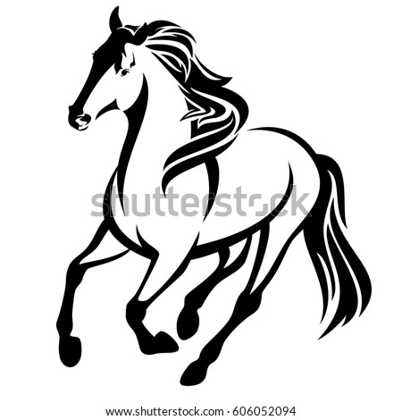 Vector Silhouette Running Horse Stock Vector 478618000 ... - photo#15