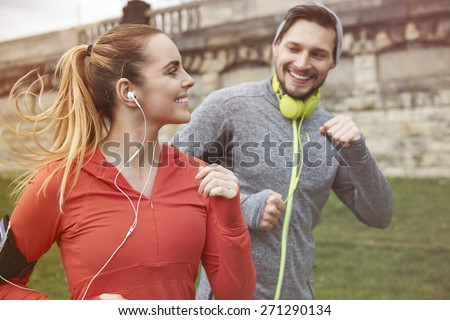 Running is way for keep a fit  - stock photo
