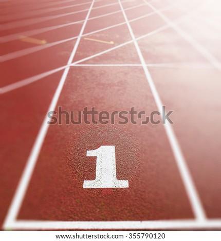 Running lane - stock photo