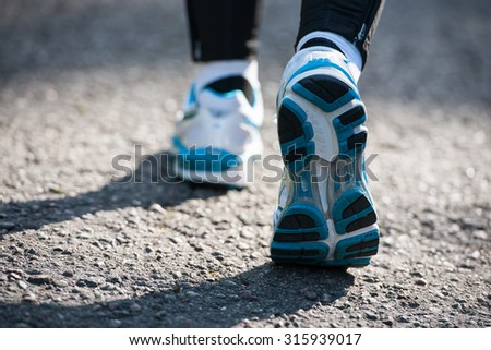 Running on the paved road