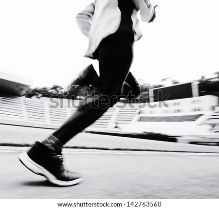 running on the track - stock photo