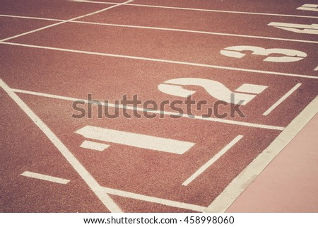 Running race lane