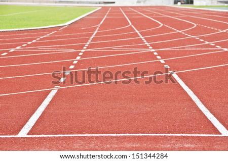 Running race track. - stock photo