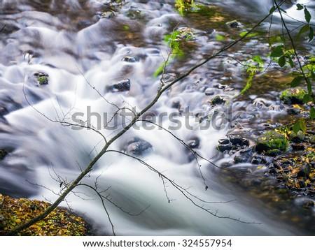 Running river - stock photo