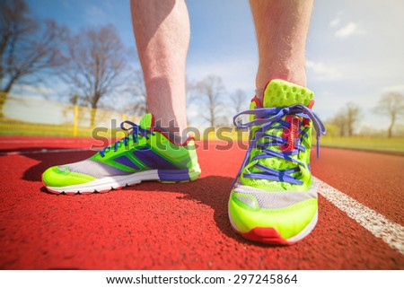 Running shoes are the most important runner's equipment - stock photo