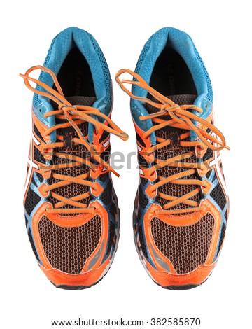 Running shoes, isolated on white background - stock photo