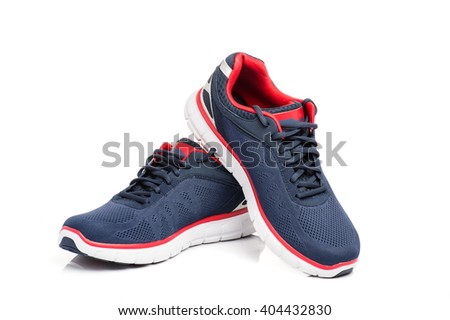 running shoes on a white background