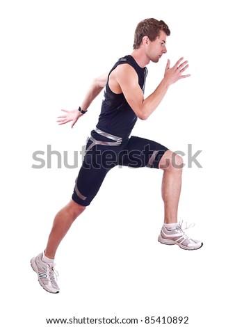 Running sportman - stock photo