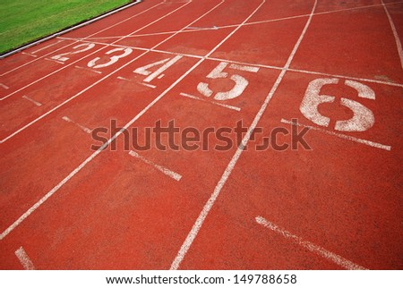running sports track - stock photo