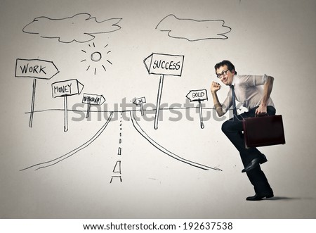 running the way - stock photo