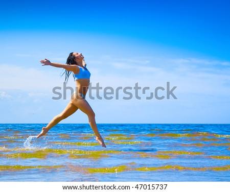 Running to pleasure - stock photo