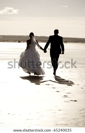 Running together - stock photo