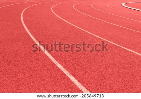running track curve