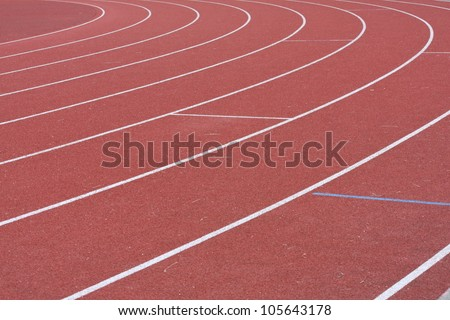 Running Track detail showing relay boxes - stock photo