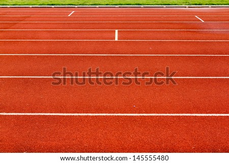 Running track for athletics and competition. - stock photo