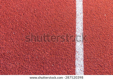 Running track in stadium - stock photo