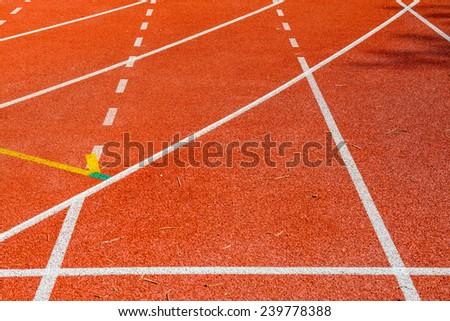Running track in Thai, Thailand. - stock photo