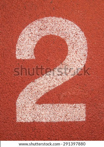 Running track number two background - stock photo