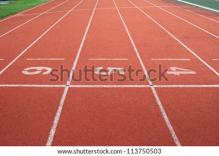 Running track numbers 4,5,6