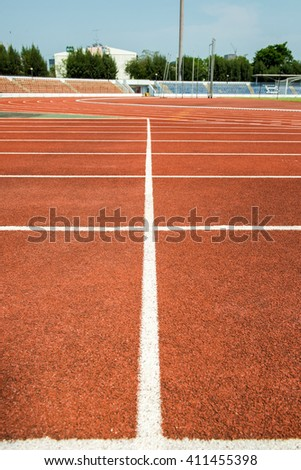 Running track on the stadium