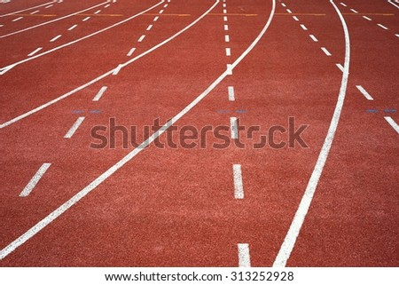Running track on the stadium / Running track - stock photo