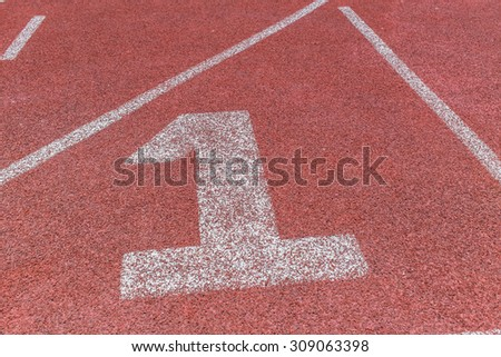 running track, sport field, number one winner concept