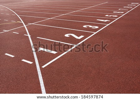 Running Track Start - stock photo