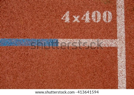 Running track surface close up