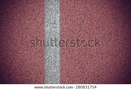 running track texture.vintage color - stock photo
