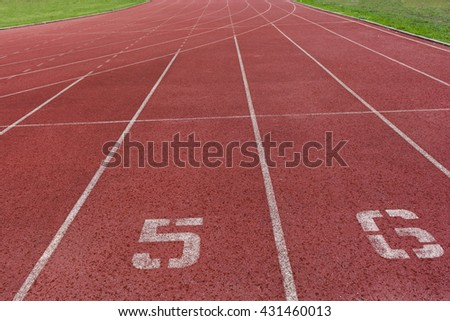 Running track with the football field