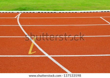 Running tracks for outdoor athletic and sport - stock photo