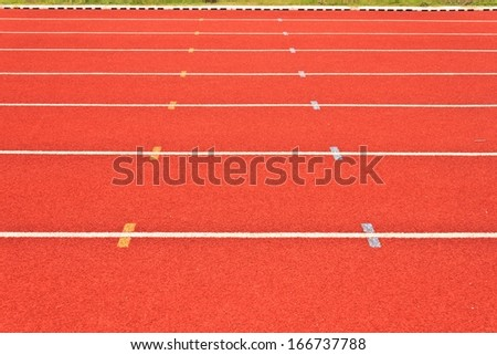 Running tracks of athletics - stock photo